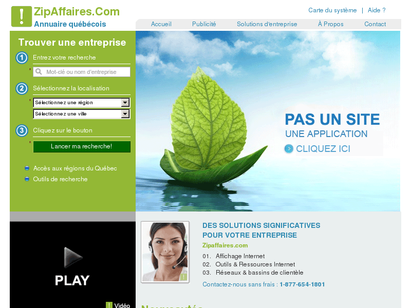 Annuaire des entreprises, services et professionnels du Québec
