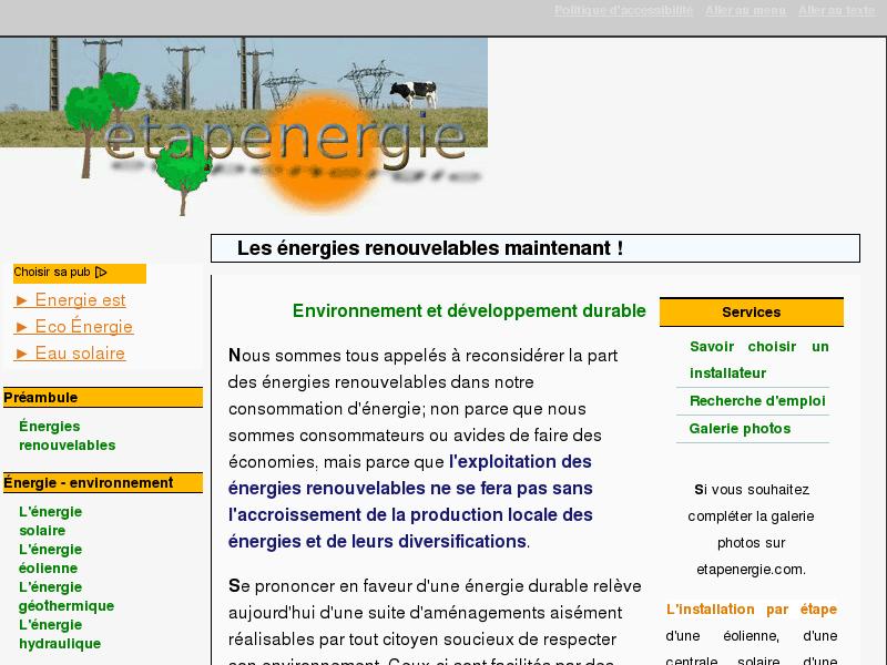 Nergie renouvelable - Pacte energie solidarite avis ...