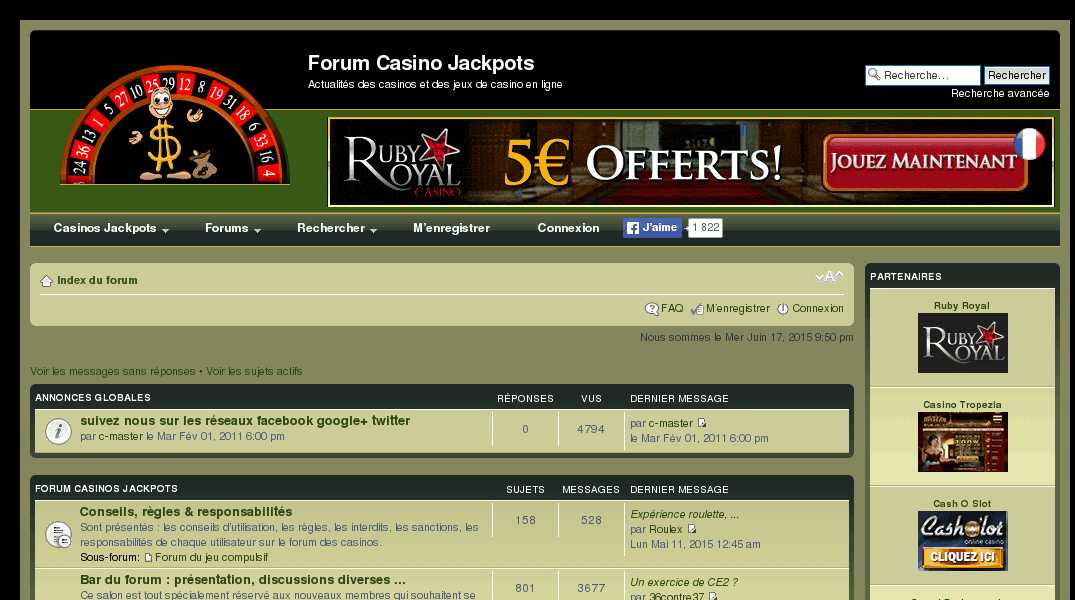 Forum casino en ligne