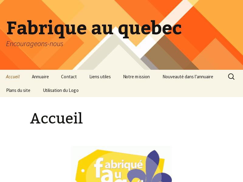 Annuaire de Fabriqué au Québec