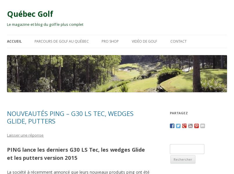 Répertoire du Golf au Québec forum terrain conseils technique quebec-golf.com