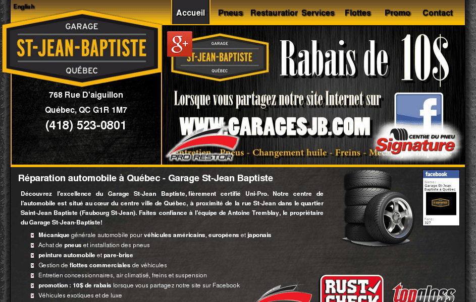 Garage st jean baptiste for Garage web car saint jean du falga avis