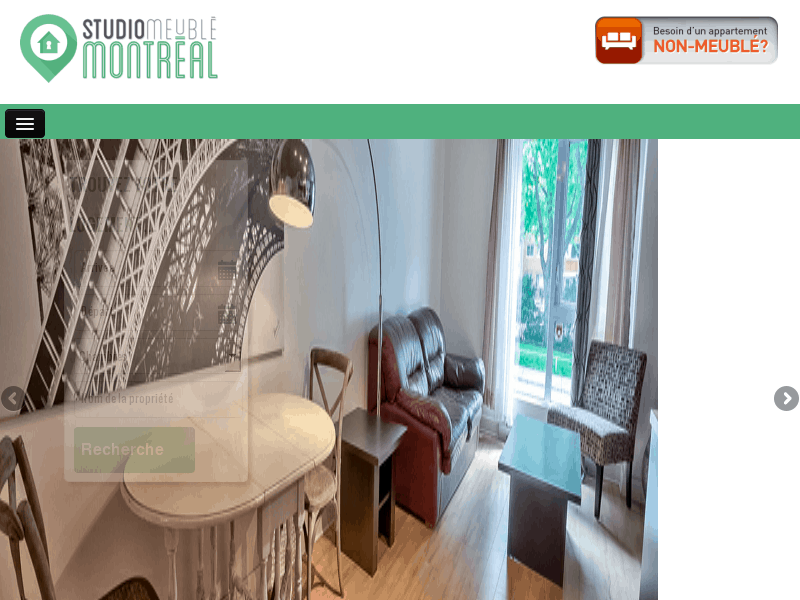 Location studio et appartement meubl montr al for Meuble economique montreal