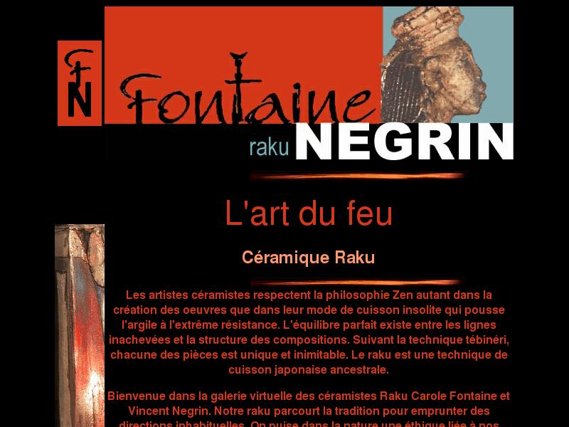 Fontaine Negrin céramistes-raku, Québec,Canada