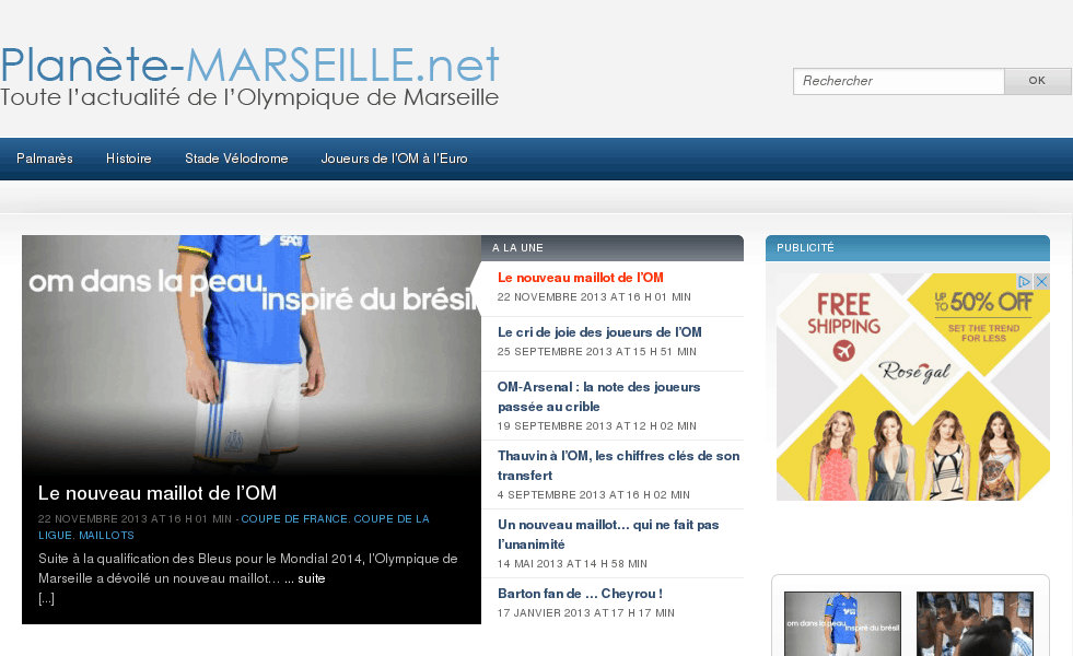 OM   Olympique de Marseille   Planete Marseille
