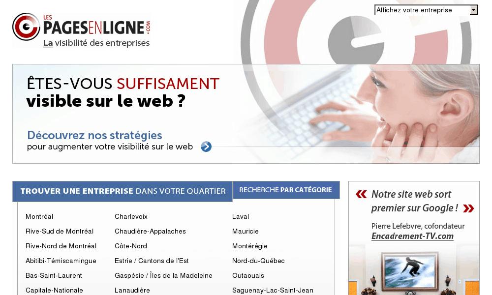 Les pages en ligne