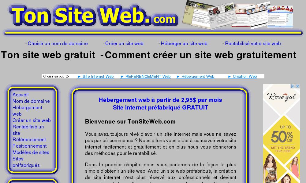 Faire un site web gratuit for Site web gratuit