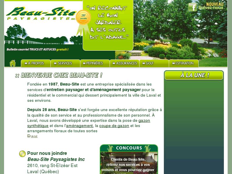 Beau site paysagiste entretien de gazon fleur for Site de paysagiste