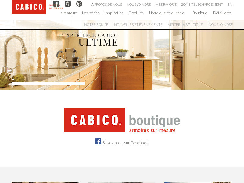 Cabico boutique fabricant de cuisines et salles for Cuisines design industries st philbert de bouaine
