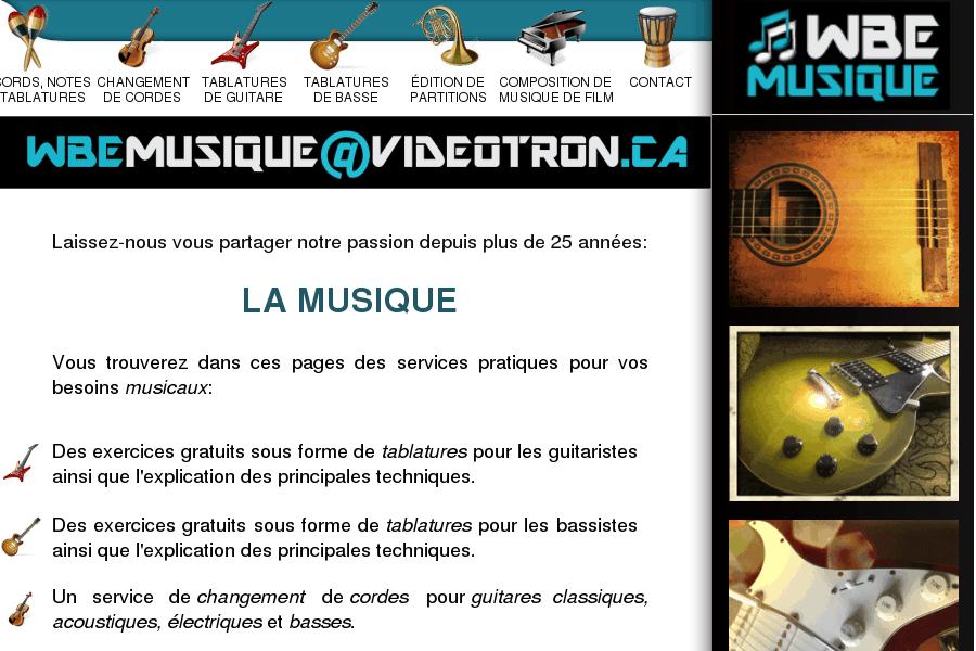 WBE musique, notre passion: la musique